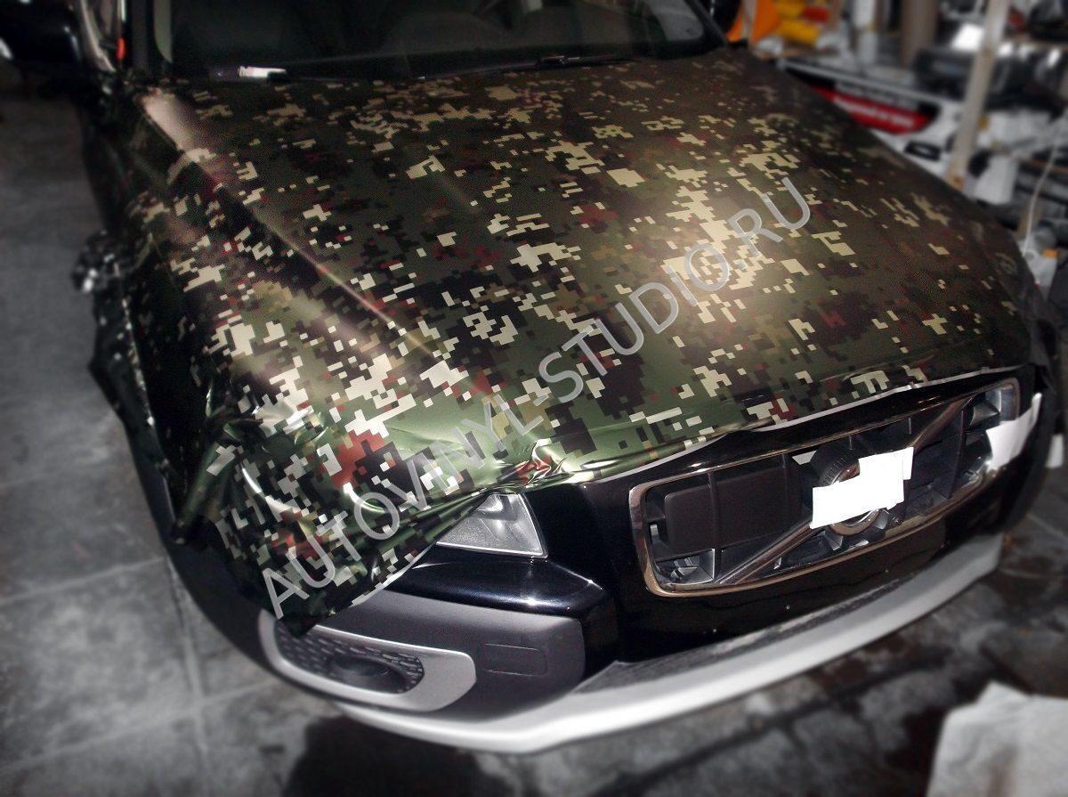 Камуфляж на авто из пленки своими руками фото